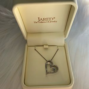 Jewelry - Jared Double Heart Diamond Necklace💎